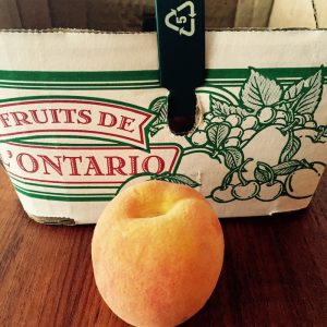 Mmmm...peaches. Thanks Ontario!